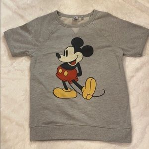 Junk food Disney Mickey Mouse sweatshirt S gray